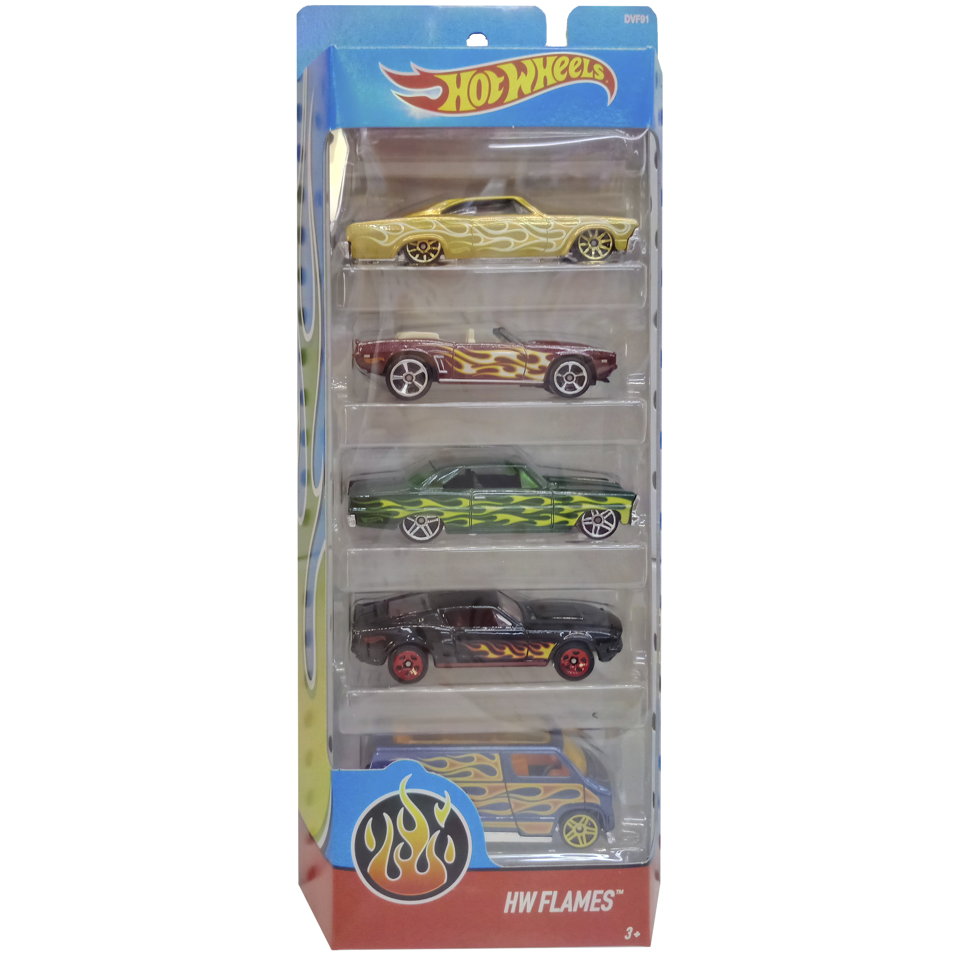 imagen pack 5 coches hot wheels dvf91