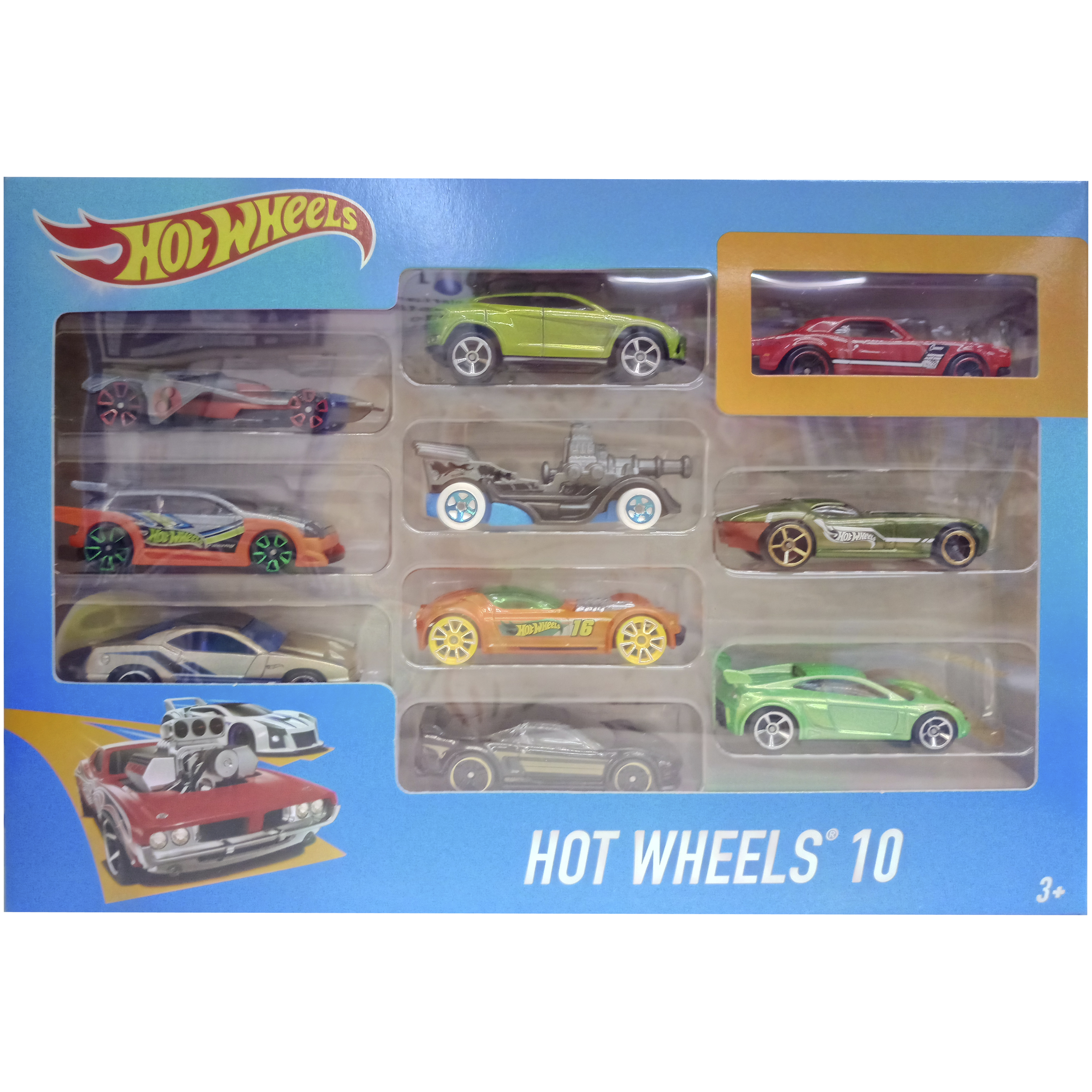 imagen coche hot wheels pack 10 coches