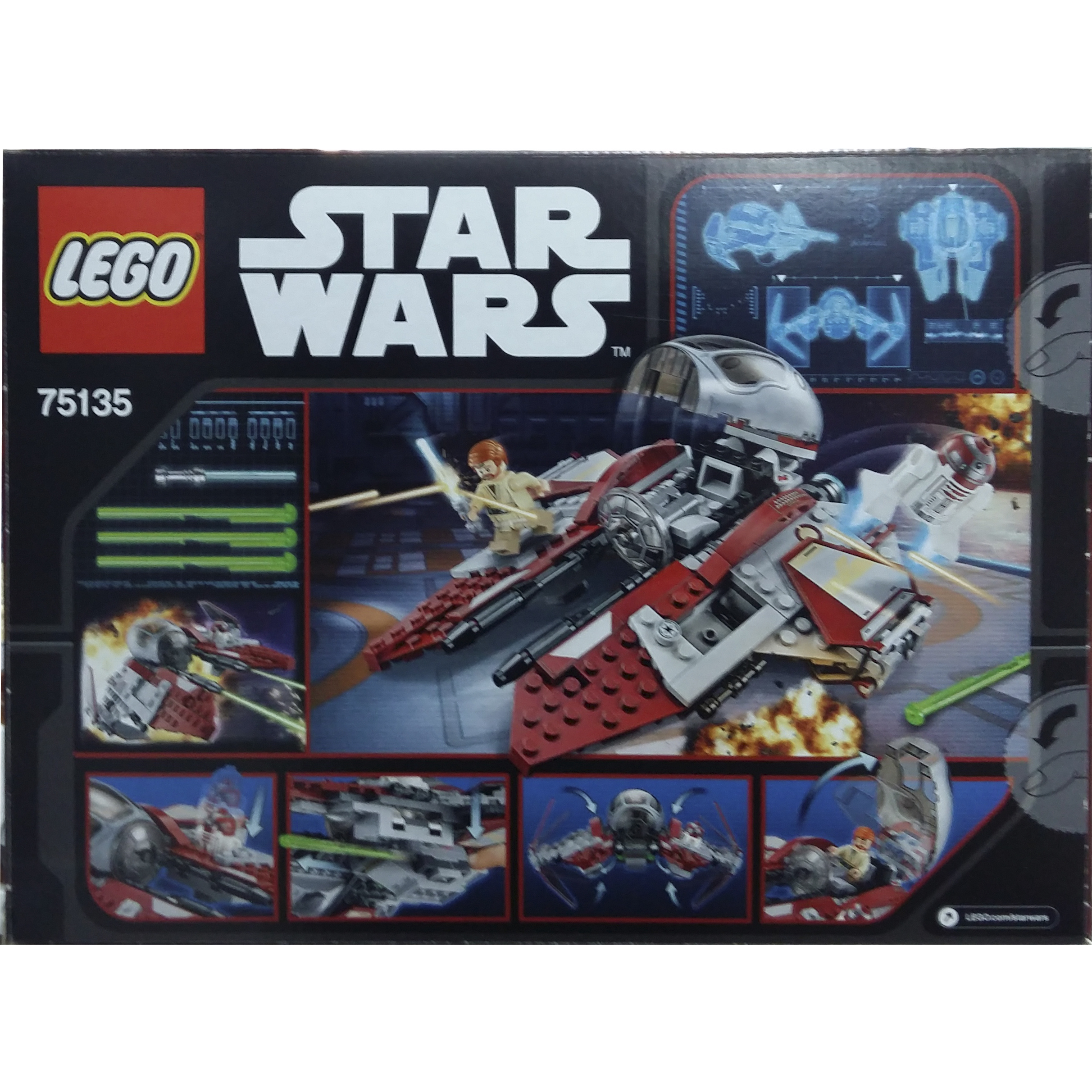 lego star wars jedi interceptor 75135