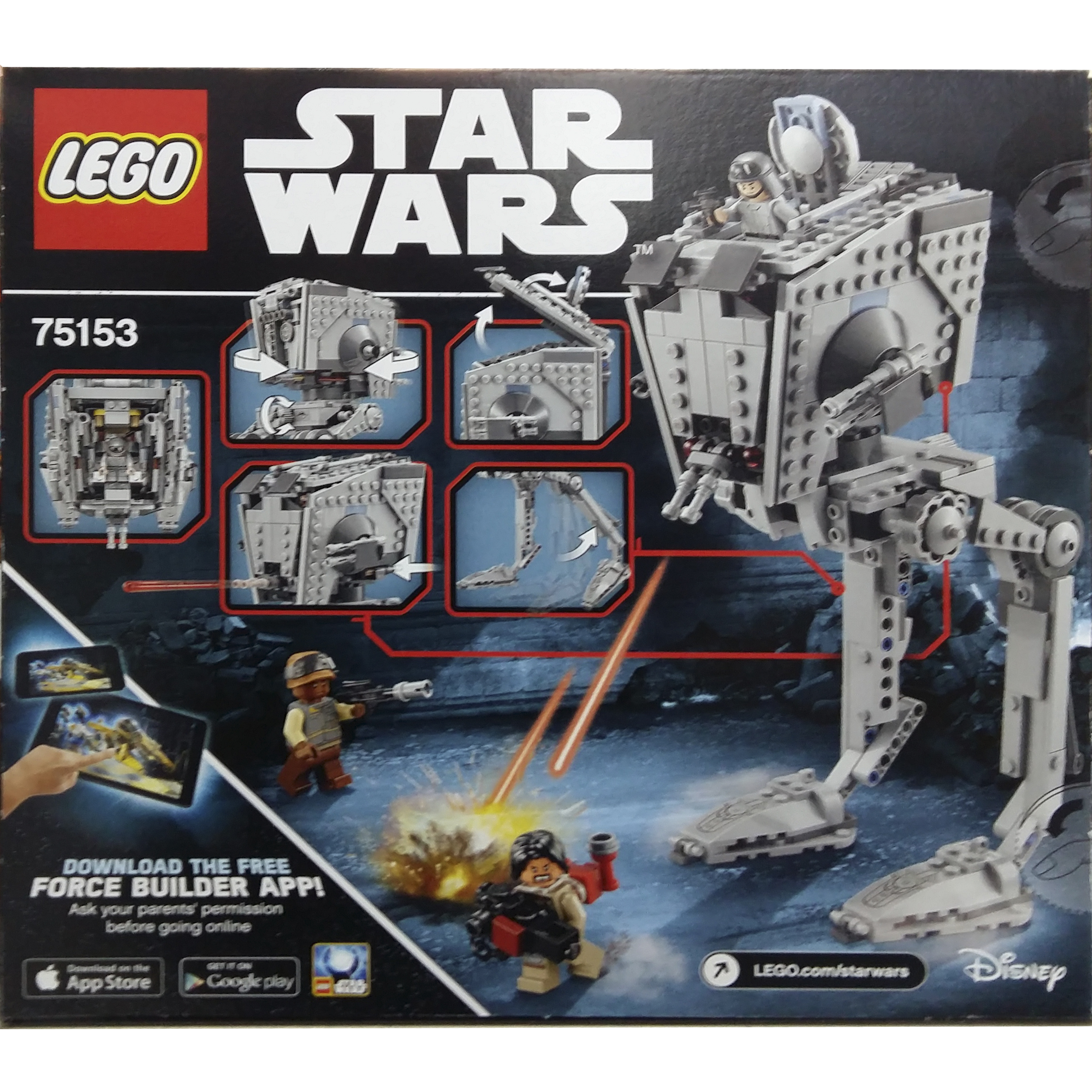 imagen lego star wars at-st walker 75153