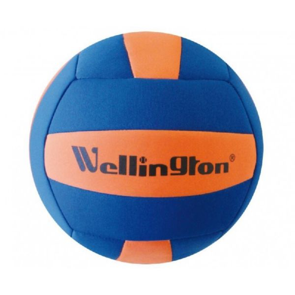 BALON VOLLEY NEOPRENO AZUL AMARILLO WELLINGTON