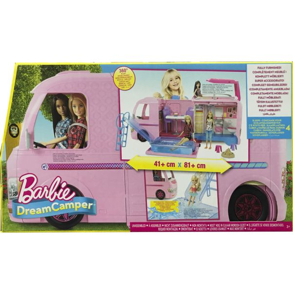 BARBIE LA SUPERCARAVANA DE BARBIE DREAM CAMPER DE COLOR ROSA DE MUÑECAS MATTEL