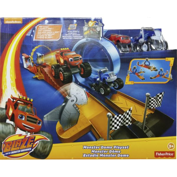 BLAZE EL ESTADIO MONSTER DOME PLAYSET MONSTER MACHINES DE NICKELODEON