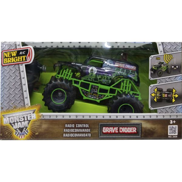 COCHE MONSTER JAM GRAVE DIGGE COLOR VERDE RADIO CONTROL VEHÍCULO R/C 1:24