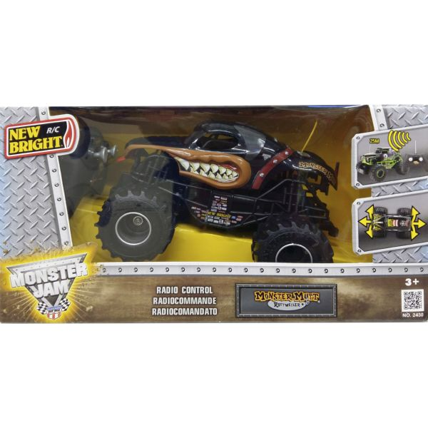 COCHE MONSTER JAM MONSTER MUTT COLOR NEGRO RADIO CONTROL VEHÍCULO R/C 1:24