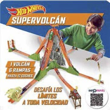 HOT WHEELS PISTA VULCANO SUPERVOLCÁN JUGUETE COCHES TEAM HOT WHEELS