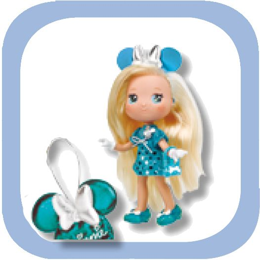 I LOVE MINNIE FASHION GLITTER AZUL
