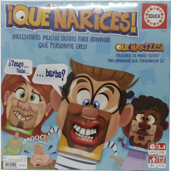 JUEGO FAMILIAR DE MESA ¡QUE NARICES! DE LA MARCA EDUCA