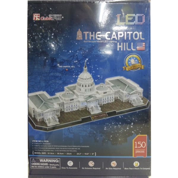 JUGUETE PUZZLE 3D LED CAPITOL 150PZAS CUBIC FUN WORLD'S GREAT ARCHITECTURE