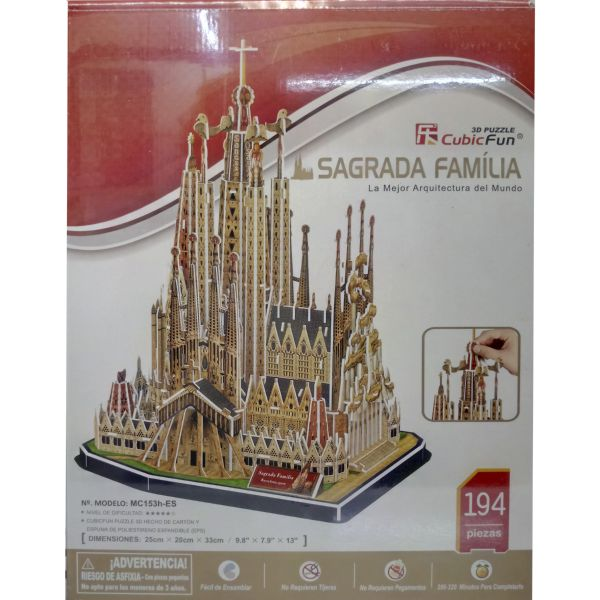 JUGUETE PUZZLE 3D SAGRADA FAMILIA 194PZA CUBIC FUN WORLD'S GREAT ARCHITECTURE