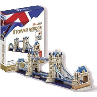 JUGUETE PUZZLE 3D TOWER BRIDGE 120 PIEZA CUBIC FUN WORLD'S GREAT ARCHITECTURE