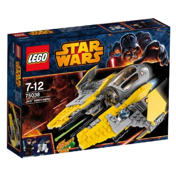 LEGO STAR WARS JEDI INTERCEPTOR CON ANAKIN SKYWALKER Y R2-D2
