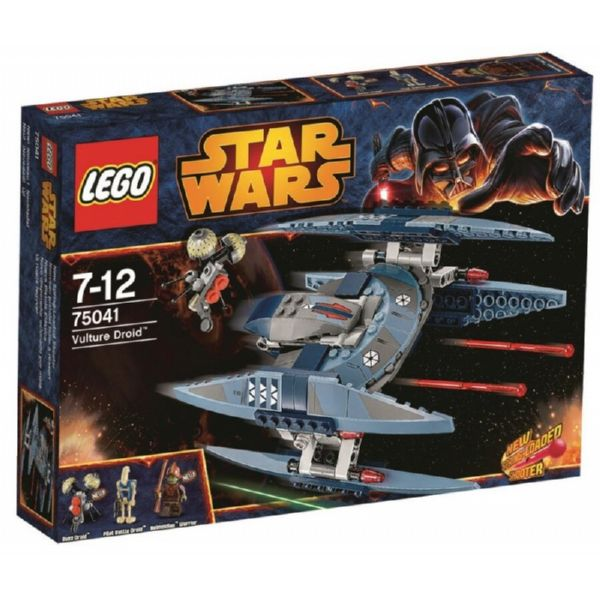 LEGO STAR WARS VULTURE DROID CON Buzz Droid, Pilot y Neimidian Warrior