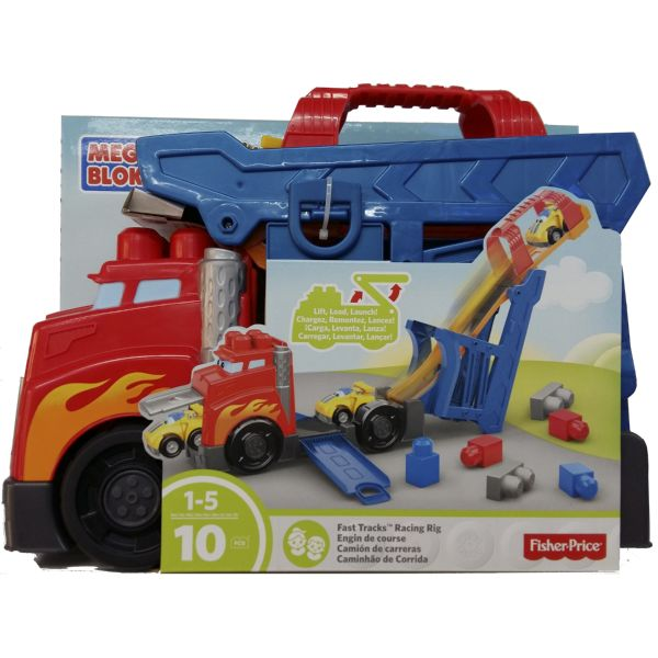 MEGA BLOKS GOLPETONES FIRSTBUILDERS MEGA CAMIÓN DE CARRERAS FISHER-PRICE