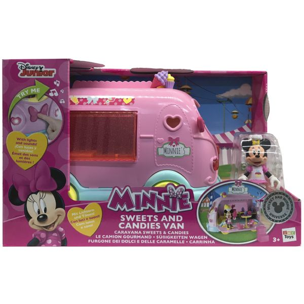 MINNIE CARAVANA SWEETS AND CANDIES VAN LA CARAVANA DE COLOR ROSA DE MINNIE