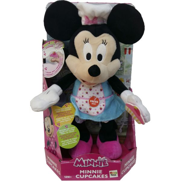 MINNIE CUPCAKES COCINERA CON DEVANTAL MUÑECA CON CONIDOS DE DISNEY JUNIOR