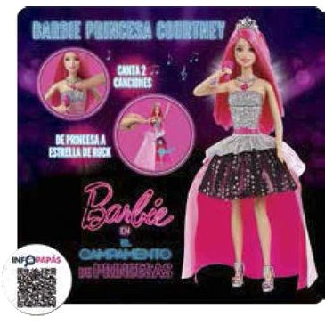 MUÑECA BARBIE PRINCESA COURTNEY CAMPAMENTO PRINCESAS
