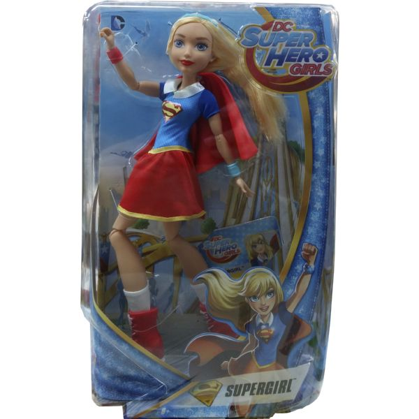MUÑECA SUPER HERO GIRLS SUPERGIRL RUBIA PELO LARGO CON CAPA DLT63