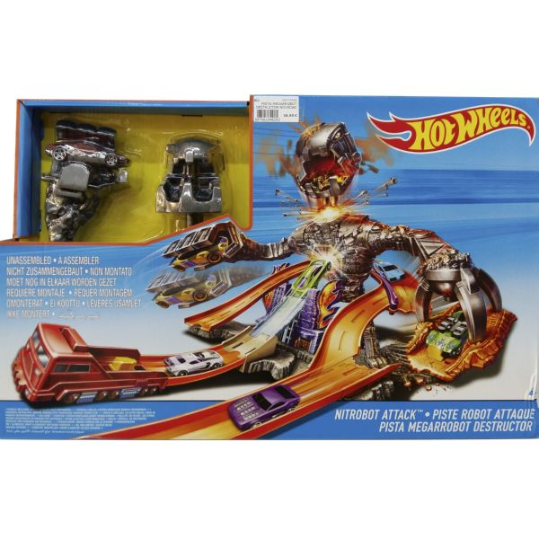 PISTA MEGARROBOT DESTRUCTOR NOVEDAD 2016 HOT WHEELS NITROBOT ATTACK