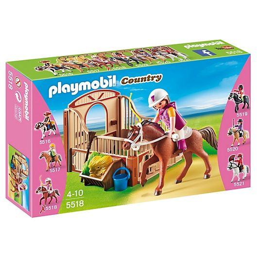 PLAYMOBIL COUNTRY CABALLO DE PASEO CON ESTABLO SAFIRA 5518