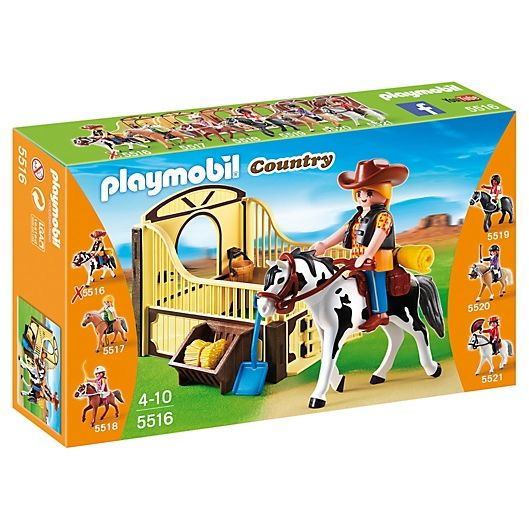 PLAYMOBIL COUNTRY CABALLO DE RODEO CON ESTABLO KITTY 5516