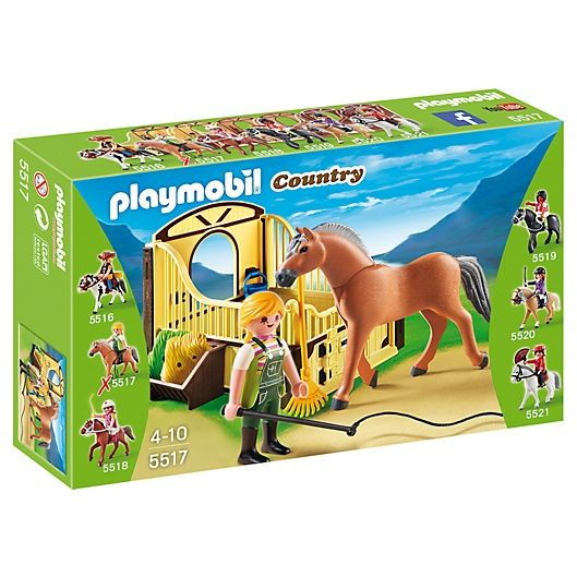 PLAYMOBIL COUNTRY CABALLO FIERDO NORUEGO CON ESTABLO MISTRAL 5517