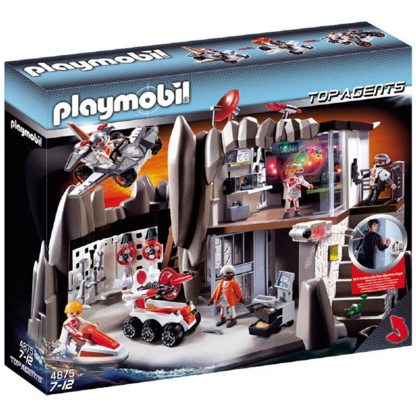 PLAYMOBIL CUARTEL GENERAL TOP AGENTS 4875