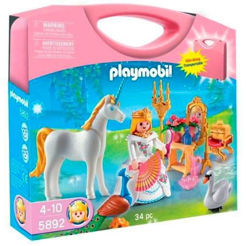 PLAYMOBIL MALETA PRINCESA 5892 34PC TRANSPORTABLE