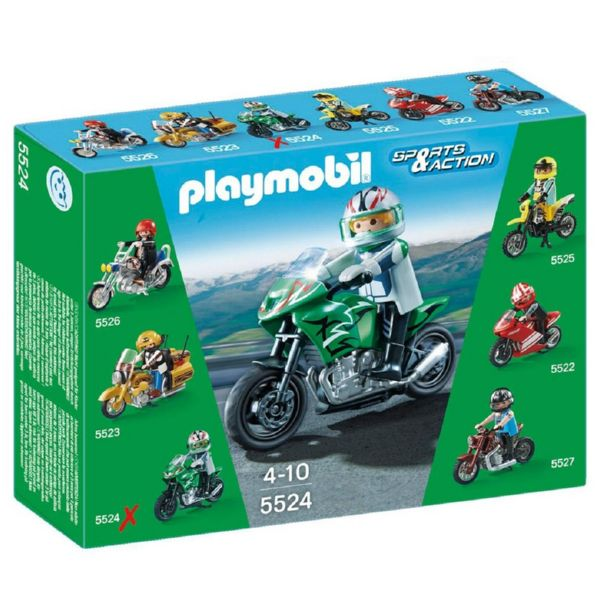 PLAYMOBIL MOTO DEPORTIVA SPORTS AND ACTION 5524