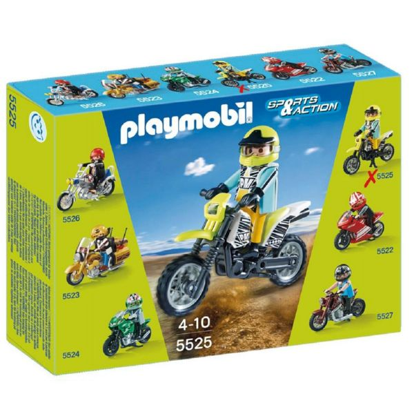 PLAYMOBIL MOTO MOTOCROSS SPORTS AND ACTION 5525