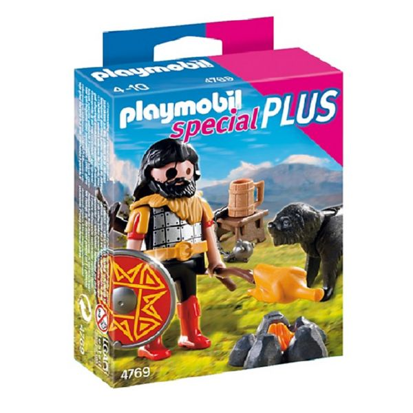 PLAYMOBIL SPECIAL PLUS BARBARO CON PERRO 4769