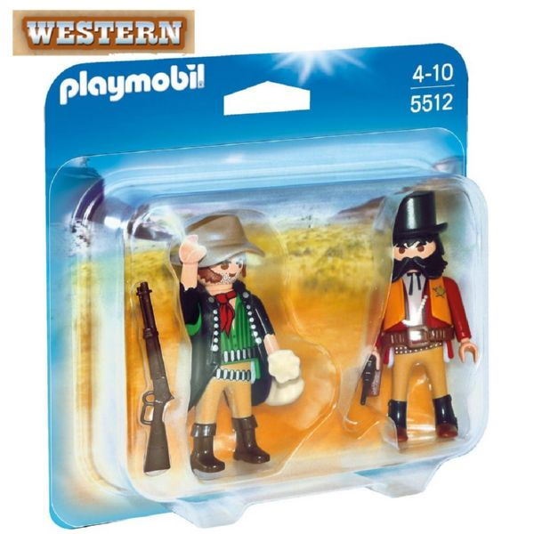 PLAYMOBIL WESTERN DUO PACK SHERIFF Y BANDIDO