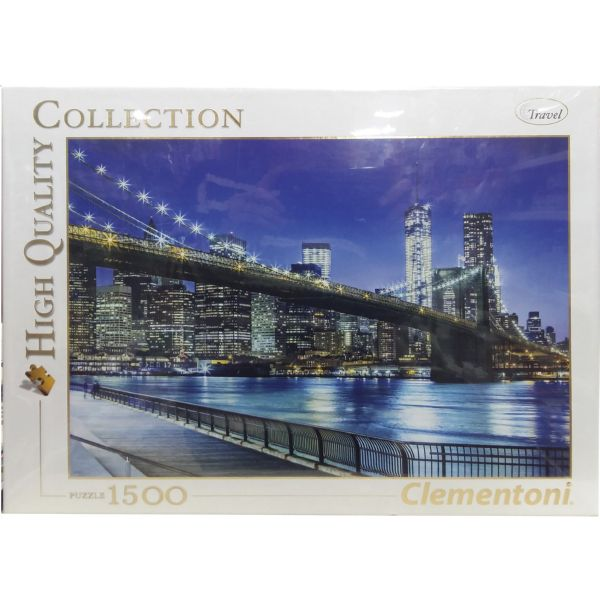 PUZZLE 1500 PUENTE BROOKLYN DE NEW YORK CLEMENTONI HIGH QUALITY COLLECTION