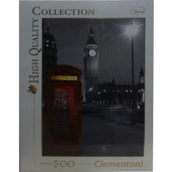 PUZZLE 500 CABINA TELEPHONE LONDRES CLEMENTONI HIGH QUALITY COLLECTION