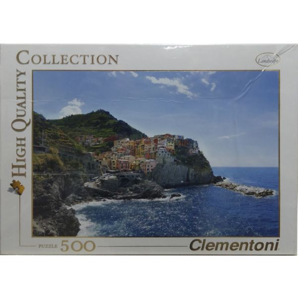 PUZZLE 500 PUEBLO COSTERO MANAROLA CLEMENTONI HIGH QUALITY COLLECTION
