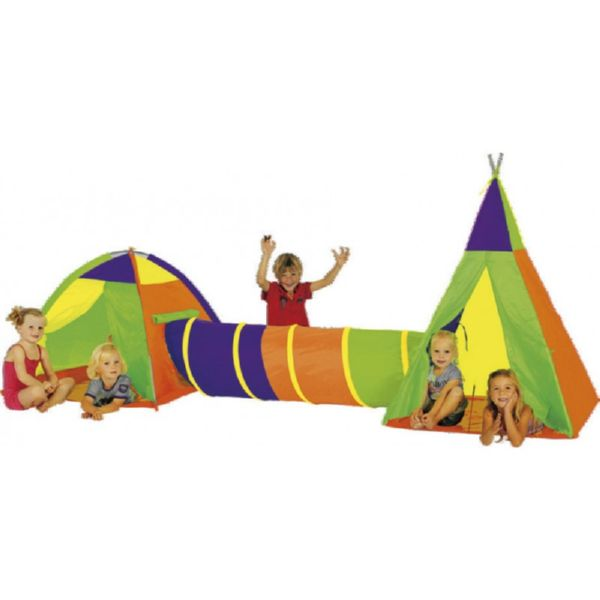 SET 2 TIENDAS CON TUNEL VILLAGE TENT SET