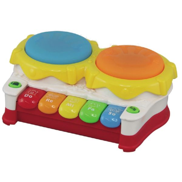 TIMBAL PIANO MUSICAL LEARNING FUN CON LUCES Y SONIDOS