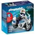 PLAYMOBIL CITY ACTION MOTO DE POLICíA CON LUZ INTERMITENTE 5185